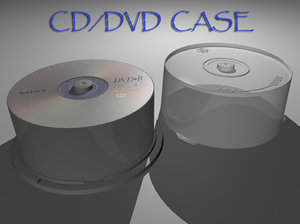 3d model cd dvd case