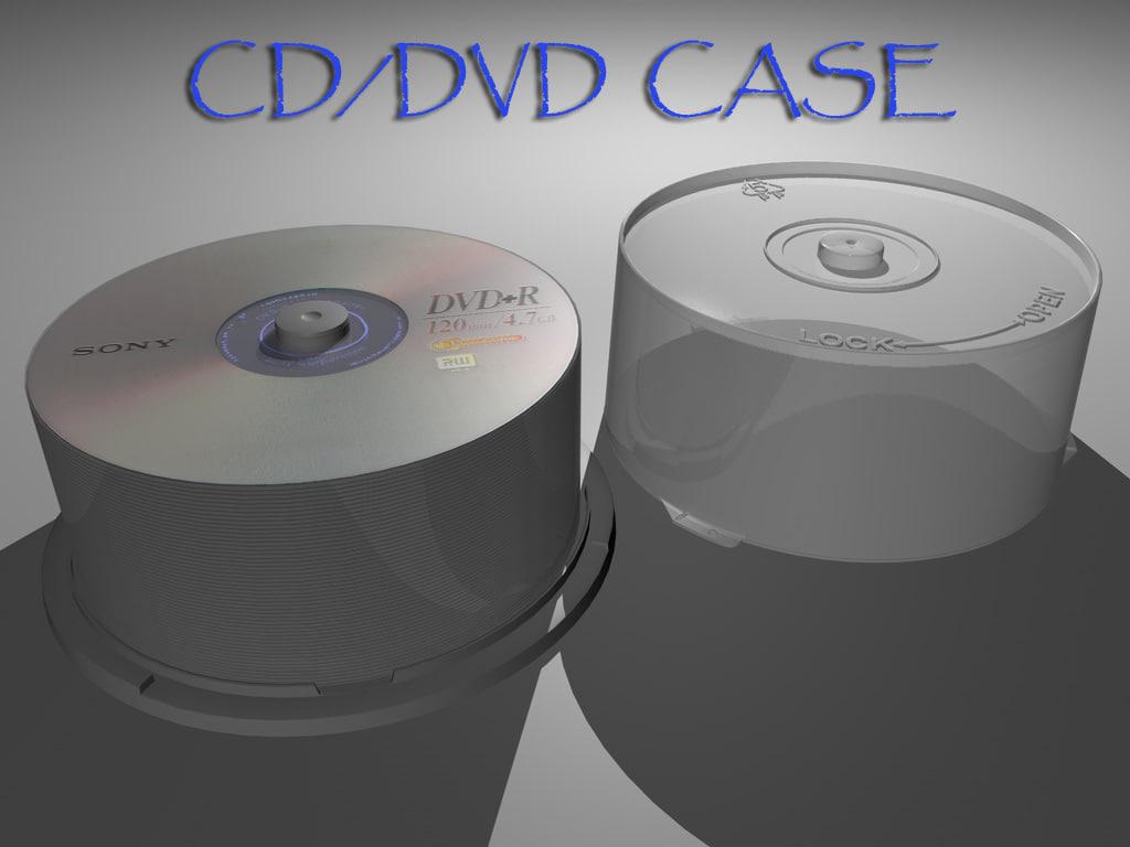 3d model cd dvd case
