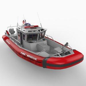 rescue safeboat 3d c4d