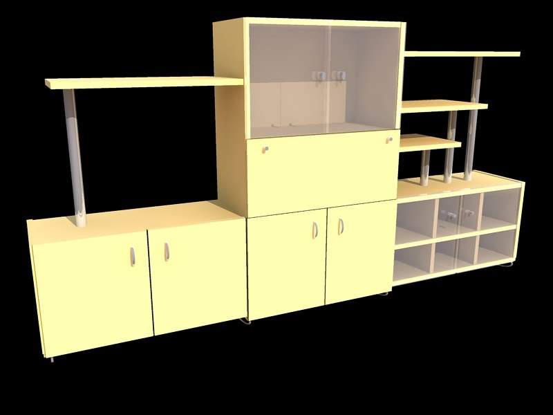 3ds max cabinet glass metal