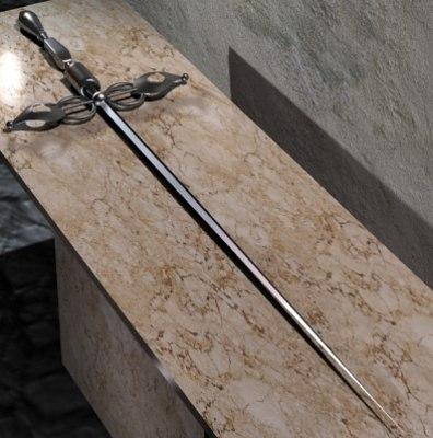 3dsmax sword stylet