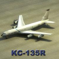 3dsmax kc-135r stratotanker aircraft kc-135