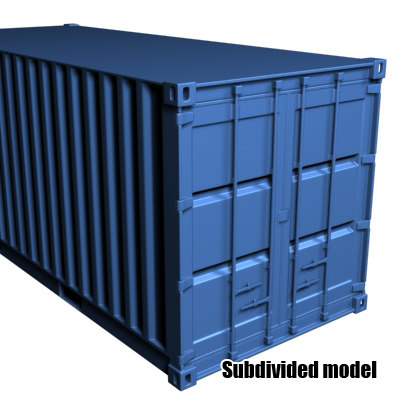 container 3d 3ds