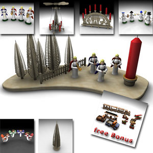 3d wood wooden toys model