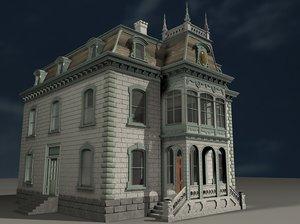 c4d victorian house