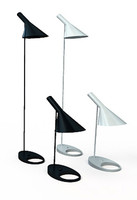 Table and Floor Lamp by Arne Jacobsen