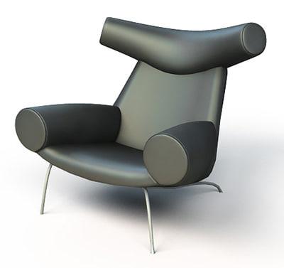 ox chair wegner 3d model