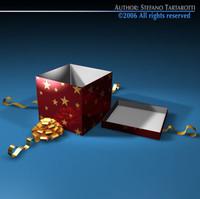 3d model open gift box