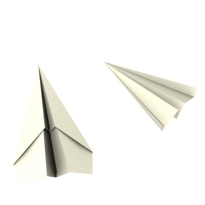 paper airplane toy 3d model