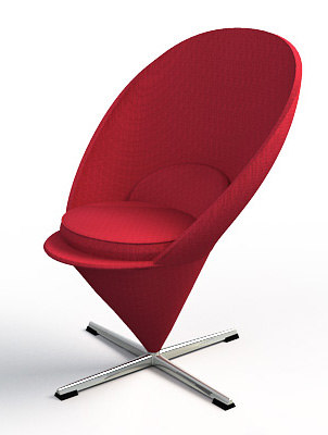 cone chair verner panton 3d model