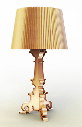bourgie crystal lamp 3d model