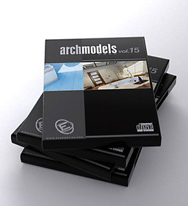 archmodels 15 bathrooms 3d model