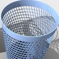 3d model wastepaper basket