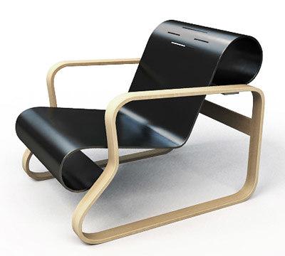 paimio chair alvar aalto 3d max