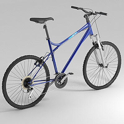 cross-bike bicycle 3d max
