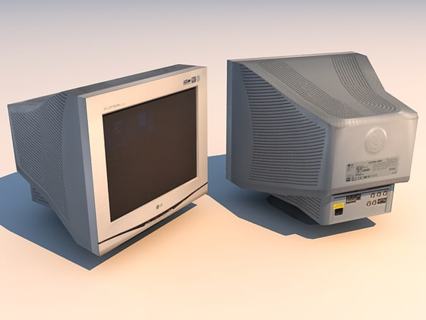 3ds max crt monitor