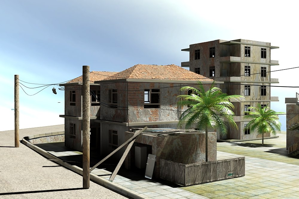 3d model old town