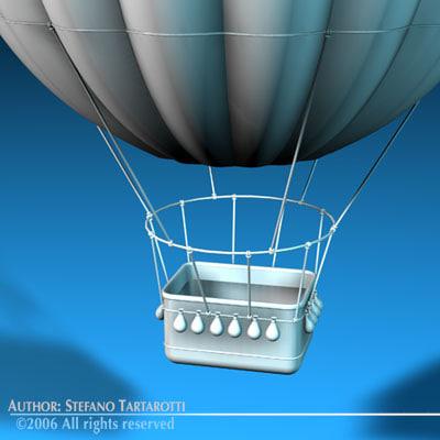 fantasy montgolfiere basket 3d model