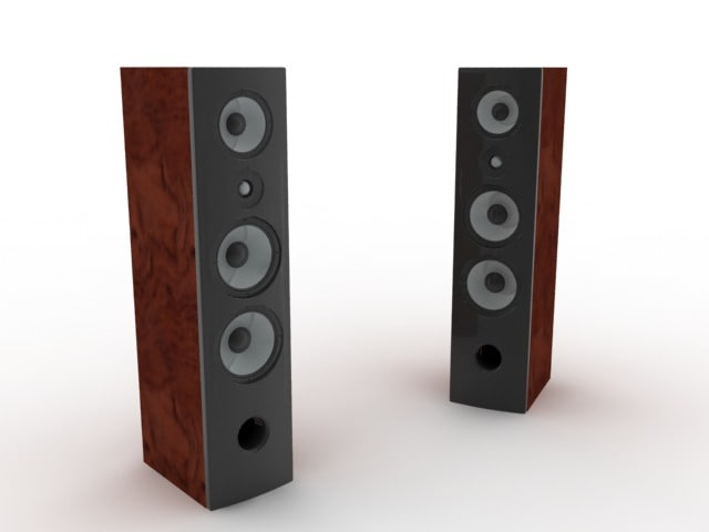 speakers loudspeaker 3d model