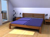 3d beds scenes model