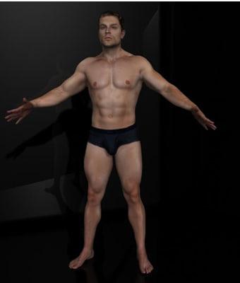 maya harry realistic male body scan