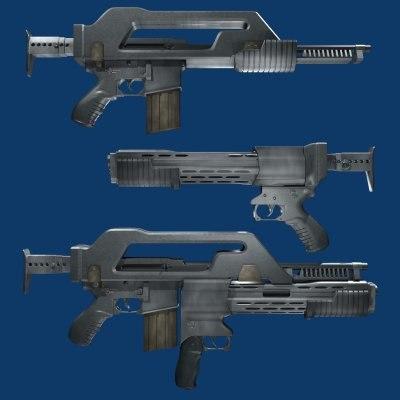 m26 rifle shotgun 3d model