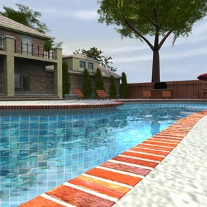 3dsmax luxury home -