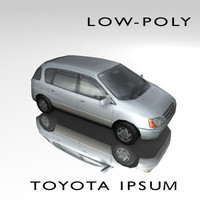 3d low-poly car toyota ipsum model