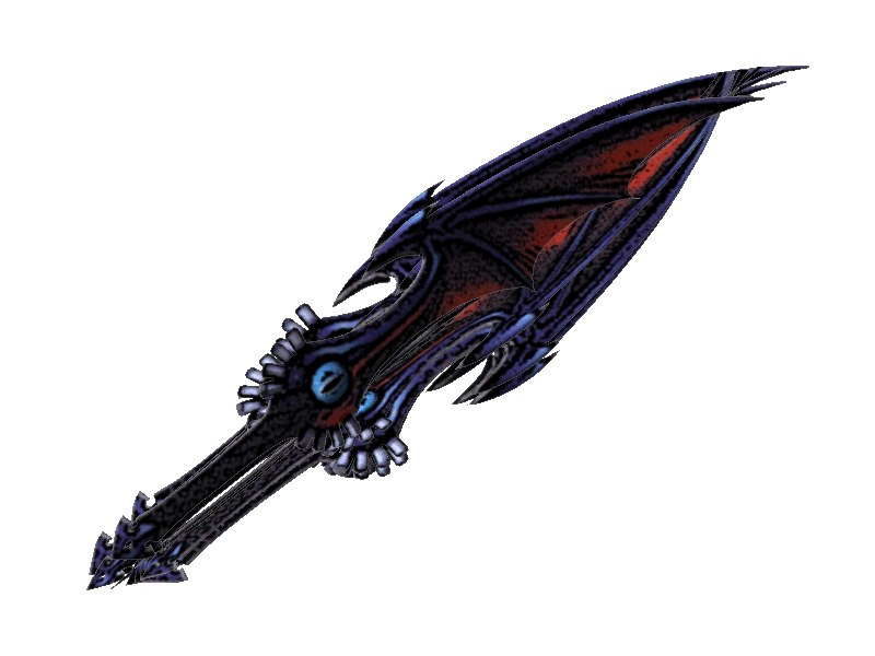 3d riku keyblade key blade model