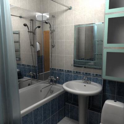 3d bath toilet model