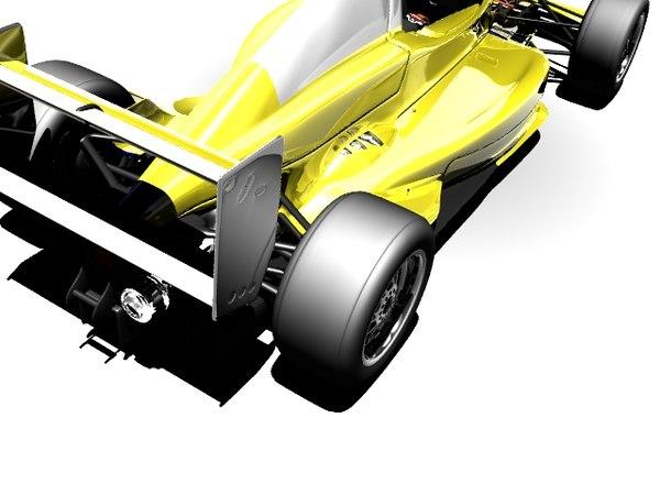 3d max formula racing car
