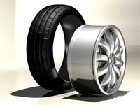 car vehicle wheel tire c4d