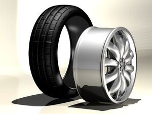car vehicle wheel tire c4d