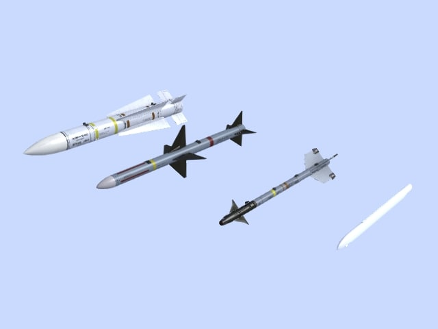 aim- missiles 3d max
