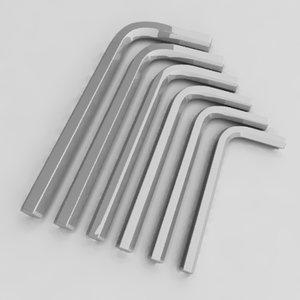 3d model of allen keys