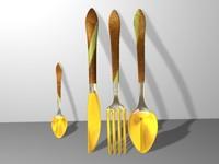 cutlery fork measurer 3d c4d