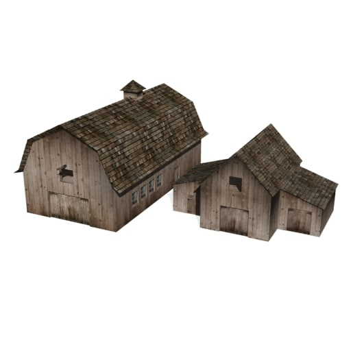 3d model historical barns buildings farms