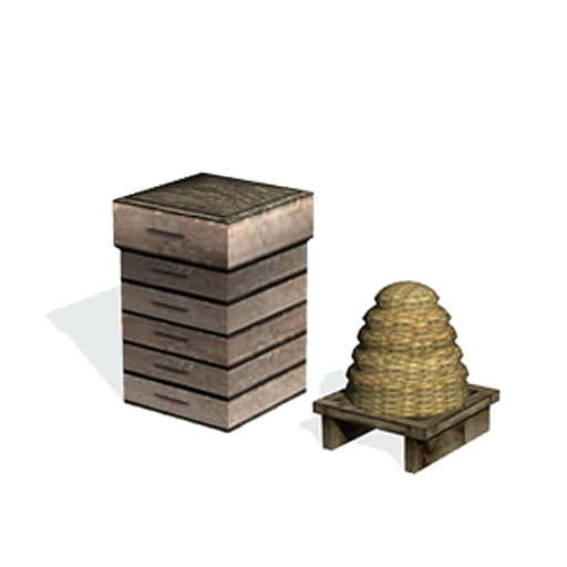 historical bee hives 3d 3ds