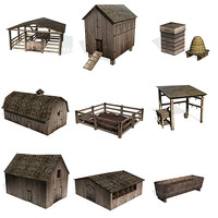 historical farm buildings barn 3ds