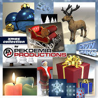 christmas giftbox reindeer 3d 3ds