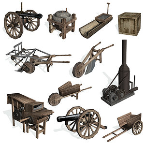 historical equipment 3d 3ds