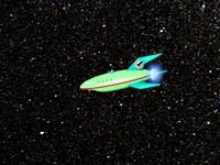 Green Space Ship (comical)