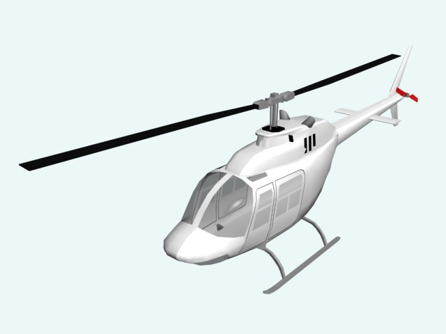 helicopter plane 3d model