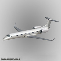 3d embraer erj-145 regional jet model