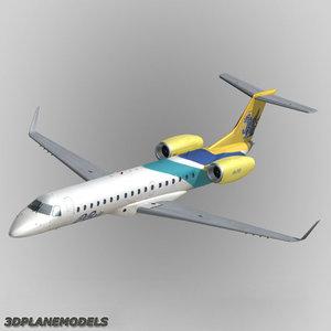 embraer erj-145 regional jet 3d dxf