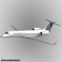 3d model embraer erj-145 regional jet