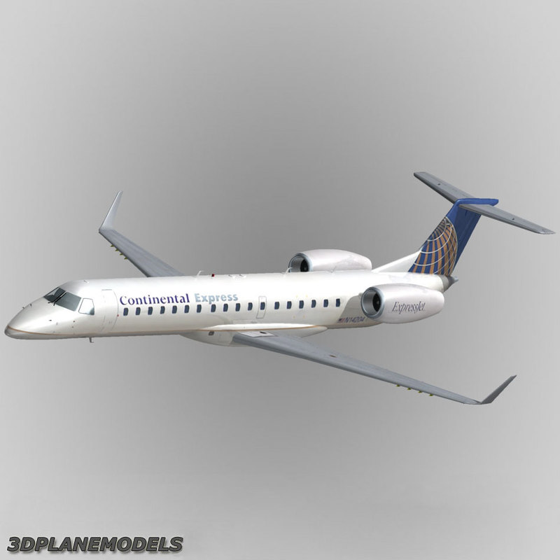 3d model embraer erj-145 regional jet