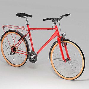 3d model touring bike