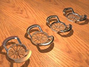 apple slicer 3d model