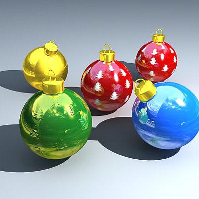 3d model ball christmas